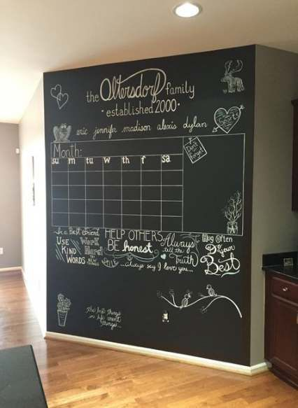 Best Chalkboard Organization Wall 47 Ideas Wall Organization