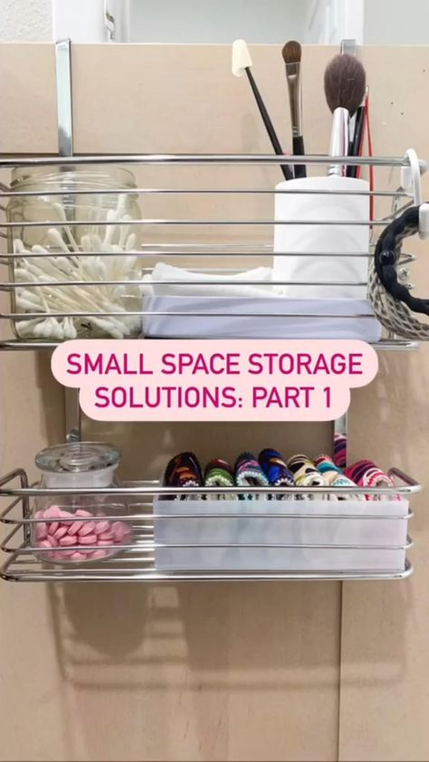 Small bathroom storage solutions Part 1 - home organization tips and hacks for small spaces