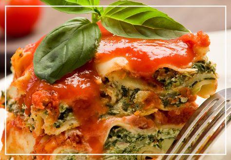 Rollos de lasagna rellenos de espinaca