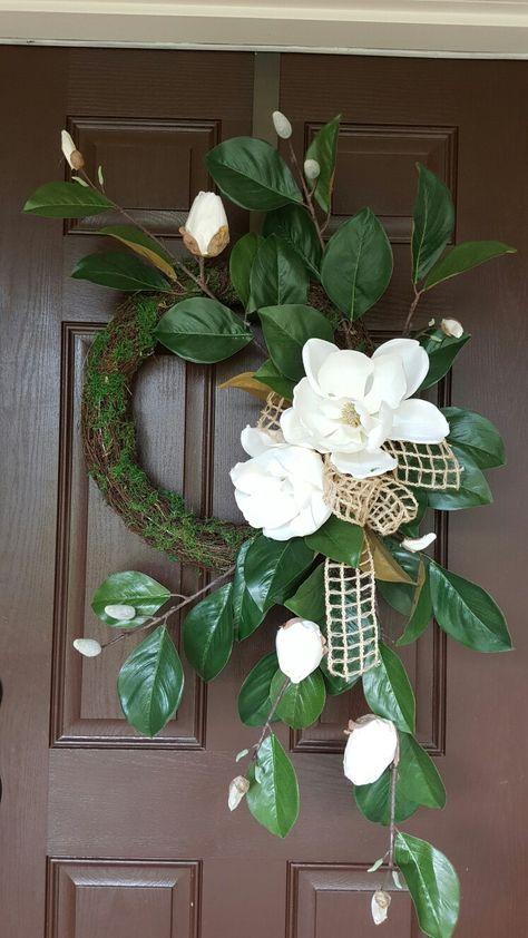 Magnolia door wreath by Kyong