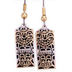Native Totem Haida Earrings
