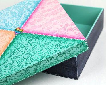 Artesanato Em Mdf Com Decoupage Mdf Artesanato Como Fazer Caixa