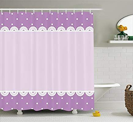 Amazon Com Ambesonne Mauve Decor Shower Curtain Old Fashion