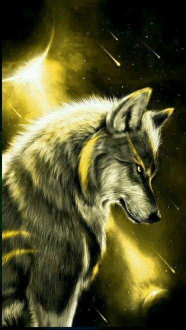 La Lune Et Les Loups En 2020 Dessin De Loup Fond D Ecran Loup Dessin De Loups
