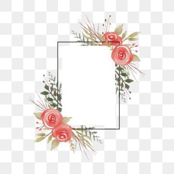 Moldura De Casamento Com Aquarela Rosa Decoracao Fundo Padronizar Flor Imagem Png E Vetor Para Download Gratuito Aquarela Rosa Ornamentos Florais Aquarela Floral