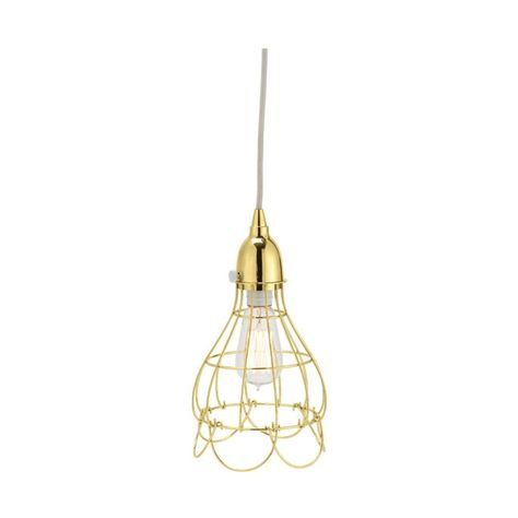 Gold Wire Rose Pendant Light Design By Lazy Susan