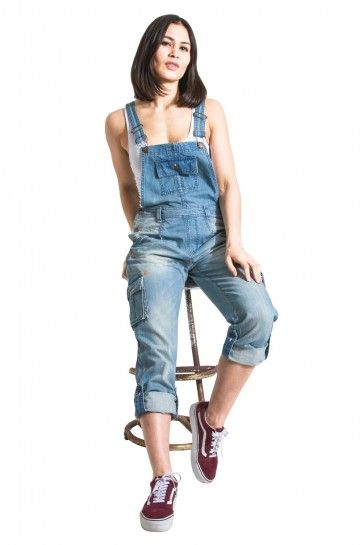 finest fabrics enjoy best price good service USKEES Womens Denim Dungarees - Rip and Repair. UK Sizes 8 ...