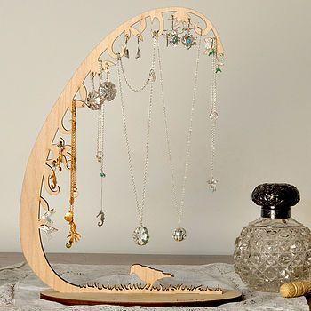Woodland Jewellery Stand Storage Organiser Diy Jewelry Display