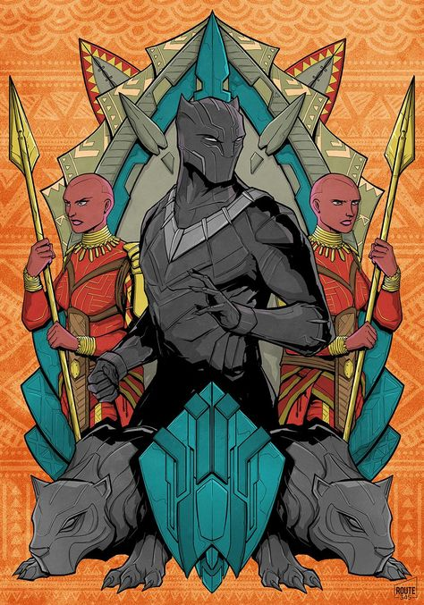 (OC/Fan Art) Black Panther and the Dora Milaje.