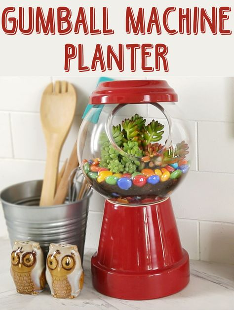 DIY Gumball Machine Planter. I will make a thousand. This is ... on