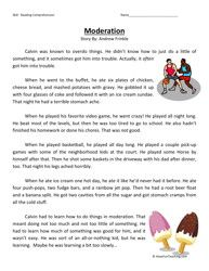 Third Grade Reading Comprehension Worksheet - Moderation | Reading ...