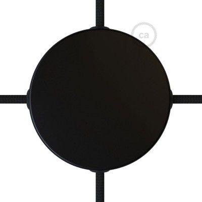 lampen baldachin schwarz alu