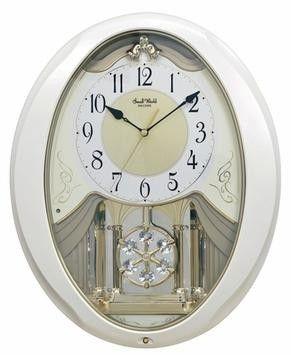 Rhythm Small World Snowflake Pearl Musical Motion Clock In 2020 Rhythm Clocks Clock Wall Clock