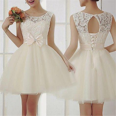 82a8748e30 krótka suknia ślubna sukienka rozkloszowana WESELE - 6374856242 - oficjalne  archiwum allegro
