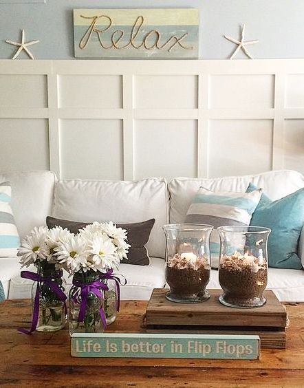 Coastal Living Room Makeover Ideas Easy Inexpensive Changes Beach Cottage Style Living Room Cottage Style Living Room Beach Cottage Decor