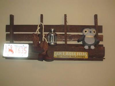 Cowboy Nursery--DIY pallet shelf.