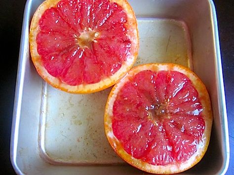 """Blogger says """"Broil a grapefruit - If you've never done this before, you are seriously missing out. Grapefruit is good but broiled grapefruit is GOOOOD. The sugars caramelize and the flesh gets a little warm and gooey and it's a sweet, tangy, brûléed masterpiece for your tastebuds. I highly recommend it."""""""