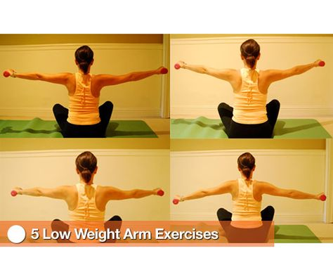 5 Low Weight Arm Toning Exercises