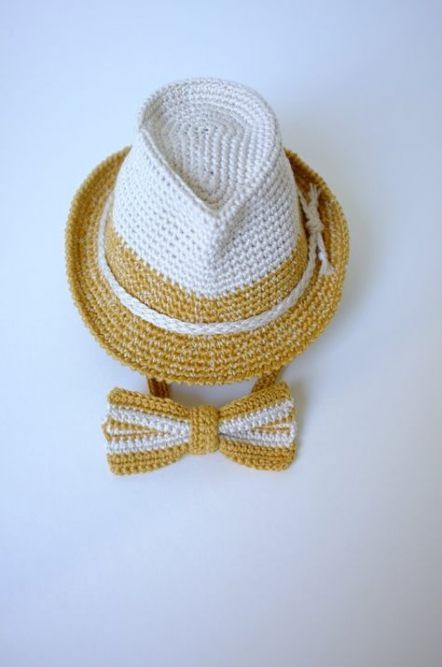 de39e1983 Baby Fedora Hat and Bow Tie Set Newborn Photography Props Baby Boy ...