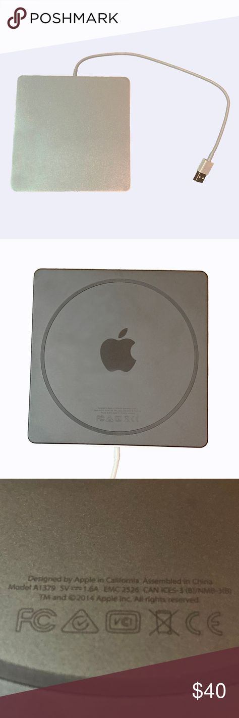 APPLE USB SUPERDRIVE CD DVD OPTICAL DRIVE USB EUC APPLE USB SUPERDRIVE CD DVD OPTICAL DRIVE USB EUC Sleek, compact optical drive Play & burn CDs, DVDs Watch DVDs, install software, create backup discs Connects with MacBook Pro, MacBook Air, iMac, or Mac mini Built in USB Type-A cable, no additional power source required 0.67 in. x 5.47 in. x 5.47 in. 0.74 lb Apple Office