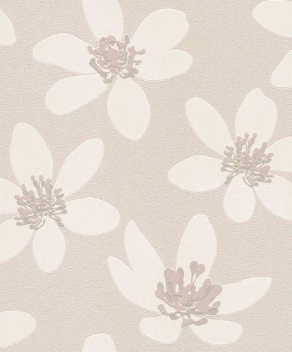 Tapete Vlies Blume Natur Floral Prego Cremetaupe 700145 Tapeten Tapeten Rasch Und Mustertapete
