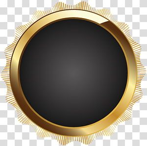 Round Gold Frame Frame Text Circle Brown Seal Badge Black Transparent Background Png Clipart Transparent Background Yellow Framed Art Gold Frame
