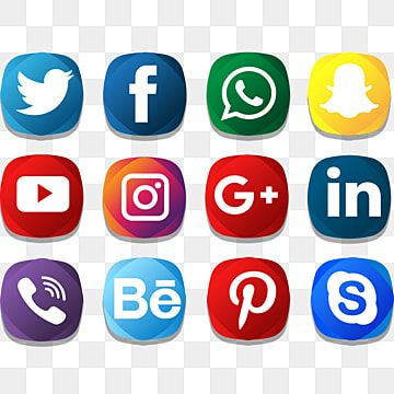 Social Icon Creative Color Pack Social Media Clipart Social Media Icons Social Media Png And Vector With Transparent Background For Free Download Social Media Icons Vector Social Icons Social Media Icons
