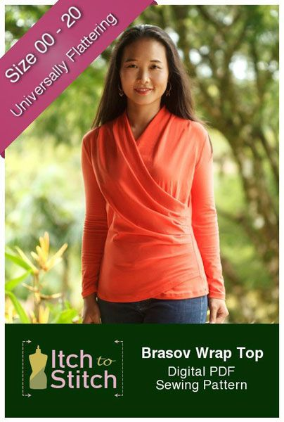 digital brasov wrap top sewing pattern