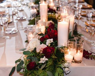 Our Wedding Reception Details Green Wedding Decorations Red Wedding Theme Christmas Wedding Table