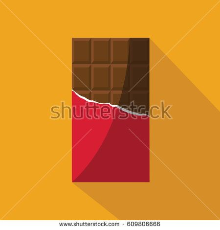 A New Modern Clean Simple Opened Chocolate Bar Vector Isolated