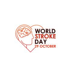 World Stroke Day Vector Logo Poster Illustration Of World Stroke Day On October 29th Health Care Awareness Campaig World Stroke Day Vector Logo Retail Logos