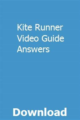 Kite Runner Video Guide Answers Study Guide Chemistry Study Guide Owners Manuals