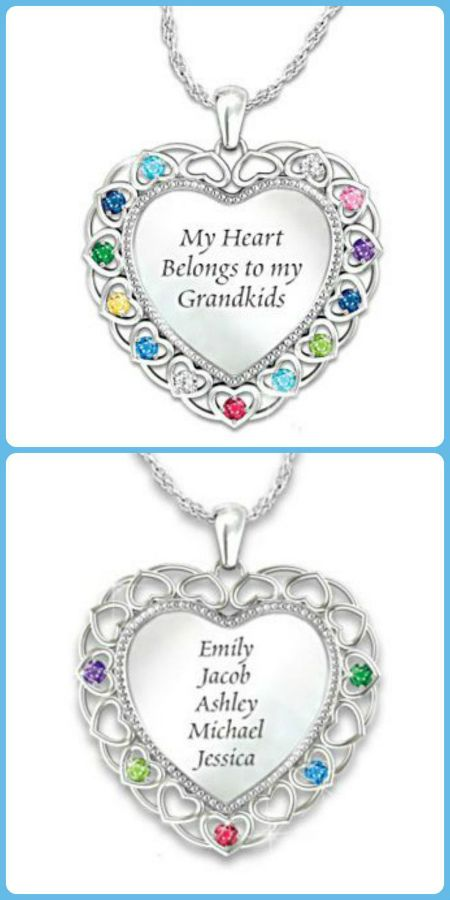 7803098f2 Personalized Grandma Birthstone Necklace with Grandkids' Names | Ect. |  Christmas gifts for grandma, Grandma necklace, Birthstone necklace