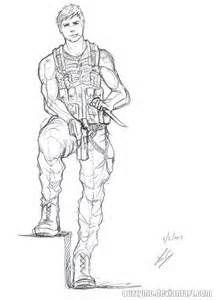 Soldier sketch simple