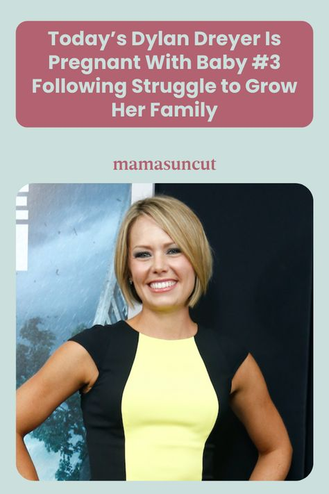 Today star Dylan Dreyer announced the exciting news of her third pregnancy on live TV with a video with her son, Cal.
