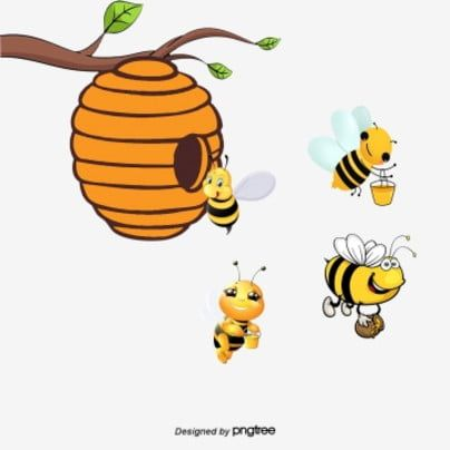 Mining Honey Bees Bee Cartoon Jar Png Transparent Clipart Image And Psd File For Free Download Bee Art Cartoon Bee Bee