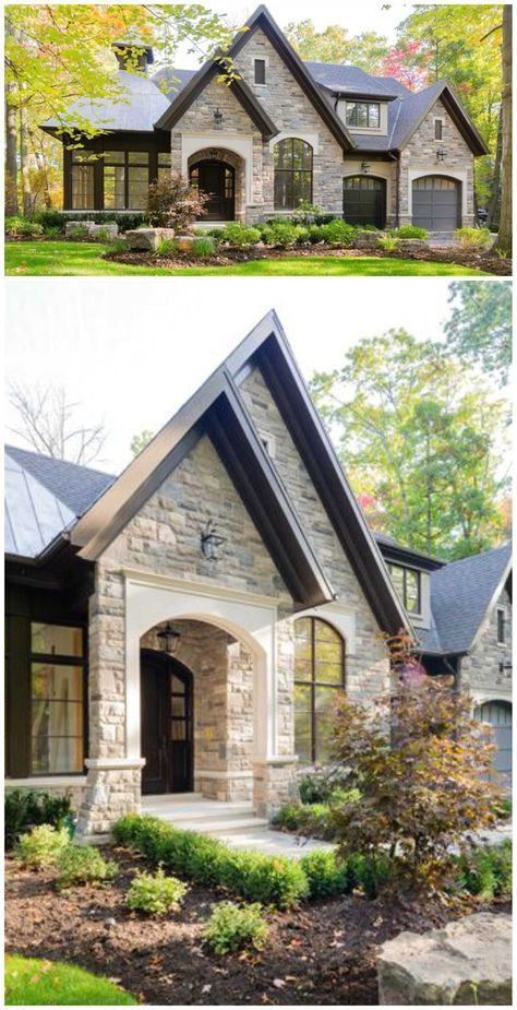 House Front Ideas Stones Floor Plans Small House Exteriors Dream House Exterior House Exterior