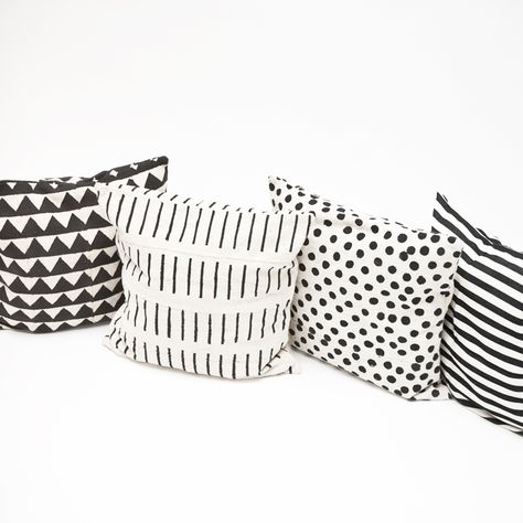 Monochrome cushion in various patterns from @FineLittleTwitt Some great products on their website.