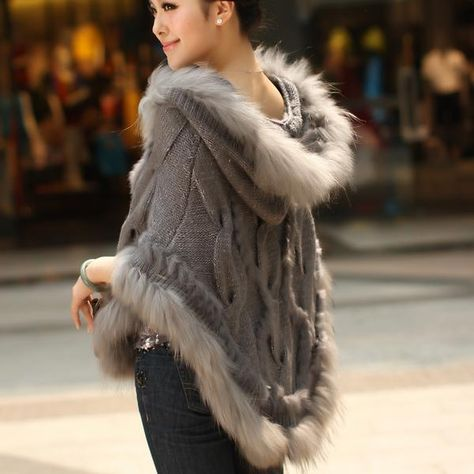 2017 thermal warm winter raccoon fur cape knitted real rabbit fur coat women female outwear. Yesterday's price: US $86.66 (77.23 EUR). Today's price (November 23, 2018): US $53.73 (47.80 EUR). Discount: 38%. #Accessories