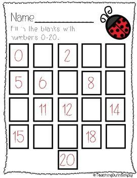 Counting To 20 No Prep Kindergarten Math Worksheets