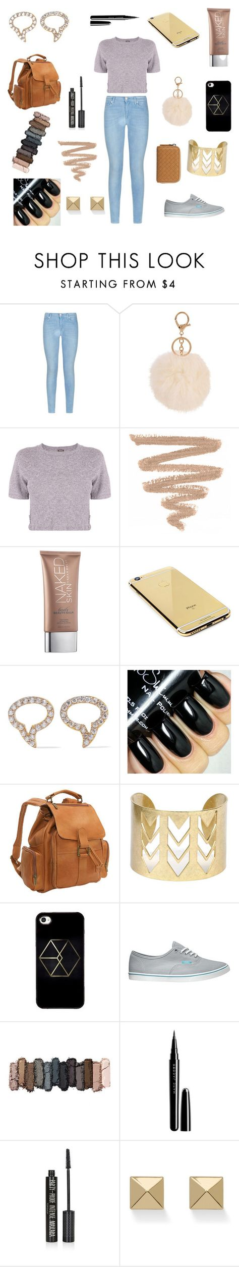 """Me Time"" by lauren-clxx ❤ liked on Polyvore featuring 7 For All Mankind, Monrow, Urban Decay, Goldgenie, Aamaya by priyanka, Le Donne, Vans, Marc Jacobs, Topshop and Palm Beach Jewelry"