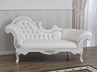 Divano dormeuse chaise longue stile Barocco Moderno bianco ...