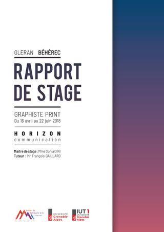 Rapport De Stage Report Design Portfolio Layout Rapport