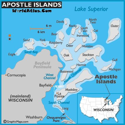 Apostle Islands Map Pinterest