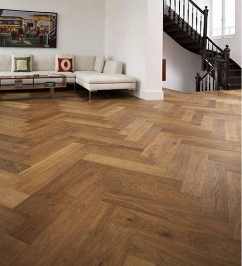 Trade Choice Easy Click Loc Parquet Engineered Smoked Oak 14/3mm x 150mm Brushed and UV Oiled Herringbone Wood Flooring