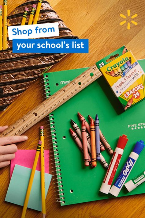 Shop from your school's list online or on the app and get everything you need easier with curbside pickup.