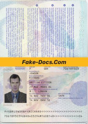Uk Passport Psd