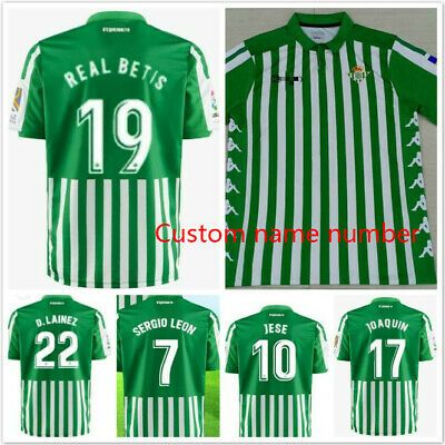 Advertisement Ebay New 2019 2020 Real Betis Home Soccer Jersey Custom Name Number Soccer Jersey Jersey Soccer