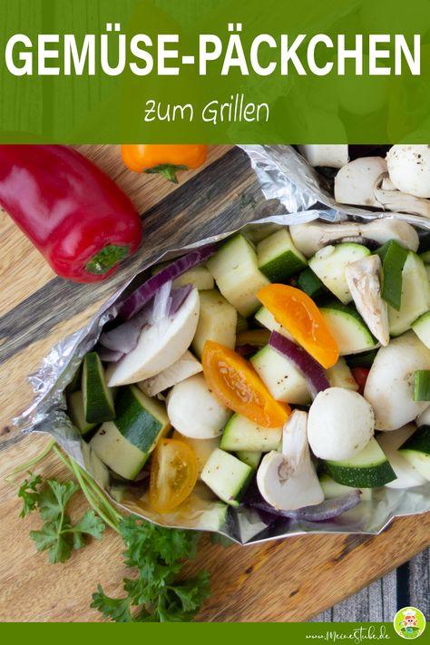 Perfekt zum Grillen. Voll gepacktes Päckchen mit Gemüse und Mozzarella. Mit Zucchini, Pilzen, Tomaten und Zwiebeln.  #grillen #gemüse #Zucchini #tomaten #pilze #champignons #meinestube #rezept #mozzarella