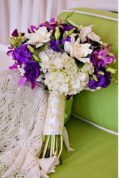 Purple, White & Green Bouquet | The Pridwin Hotel, Shelter Island ...